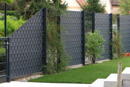 INOVA Doppelstabgittermatten mit Kunststoffsichtschutz