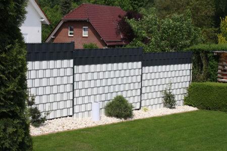TAM Doppelstabgittermatten mit Kunststoffsichtschutz
