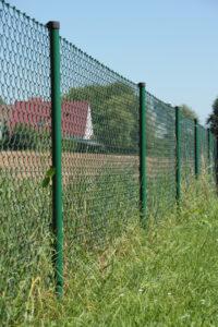 Maschendrahtzaun, moosgrün, H=125cm